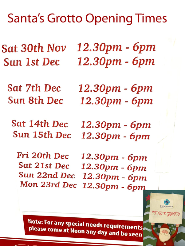 Showgrounds shopping centre santa grotto opening times